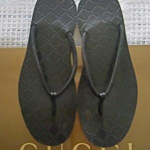 Gucci Men's GG Brown Wooden Sandals
