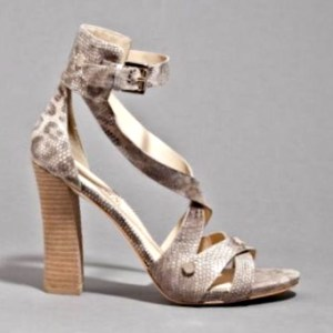 Guess by Marciano Leather Pattern Wrap High-Heel Sandals