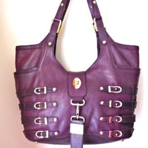 Jimmy Choo Bree Purple Leather Tote