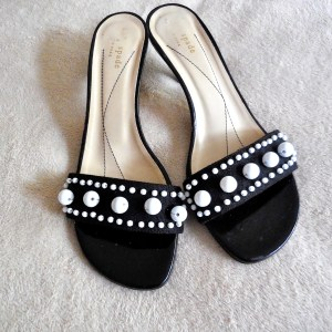 Kate Spade Black & White Mules