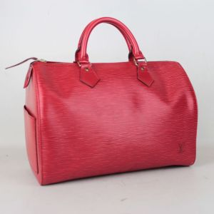 Louis Vuitton Red Epi Leather Speedy 30 Handbag