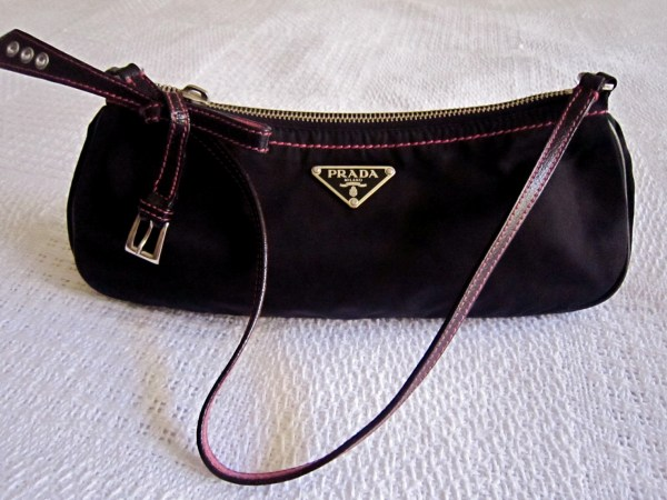 5a900b4213c0 Prada Black Tessuto Nylon Baguette - Luxurylana Boutique