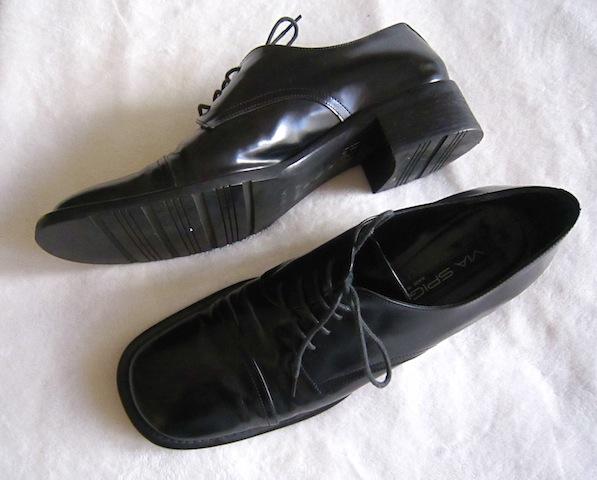 Via Spiga Men's Black Leather Oxford Shoes-2