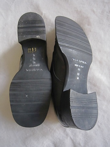 Via Spiga Men's Black Leather Oxford Shoes-4