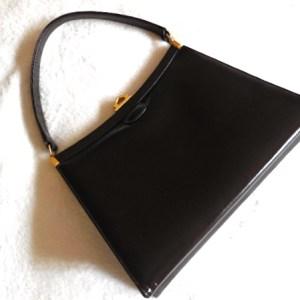 Vintage Black Genuine Leather Satchel
