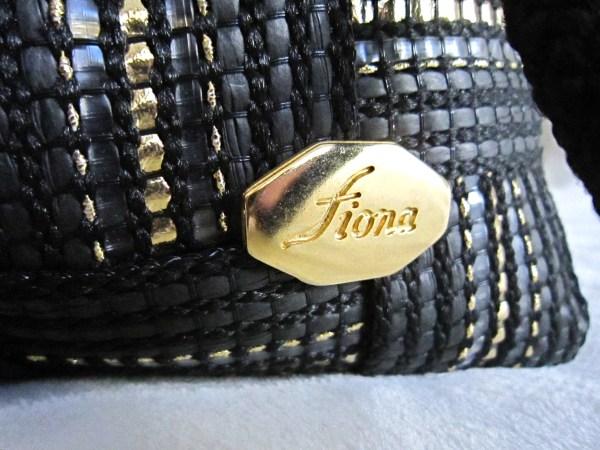 Vintage Fiona Black Shoulder Bag-2