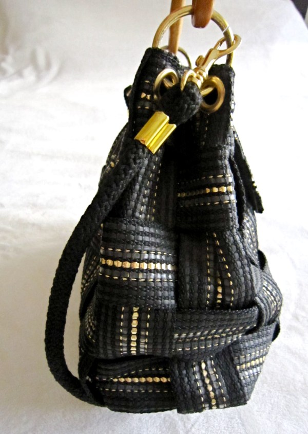 Vintage Fiona Black Shoulder Bag-3
