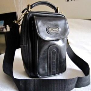 Vintage Pierre Cardin Distressed Leather Shoulder Bag