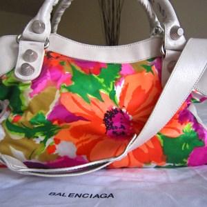 Balenciaga Floral Multicolor Handbag