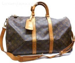 384f1581fb1 Louis Vuitton Keepall 45 Duffel Bag/Strap M41418 - Luxurylana Boutique