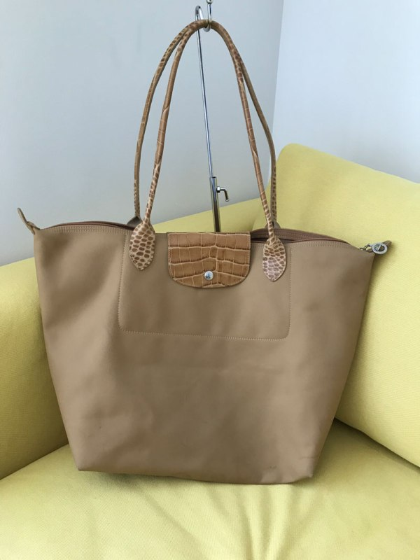 Longchamp Le Pliage Large Tan Tote