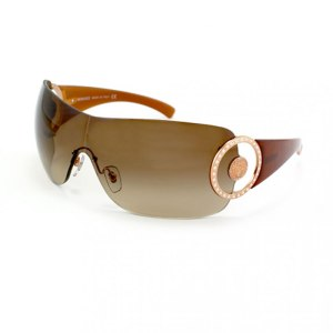 Versace Oversized Brown Sunglasses