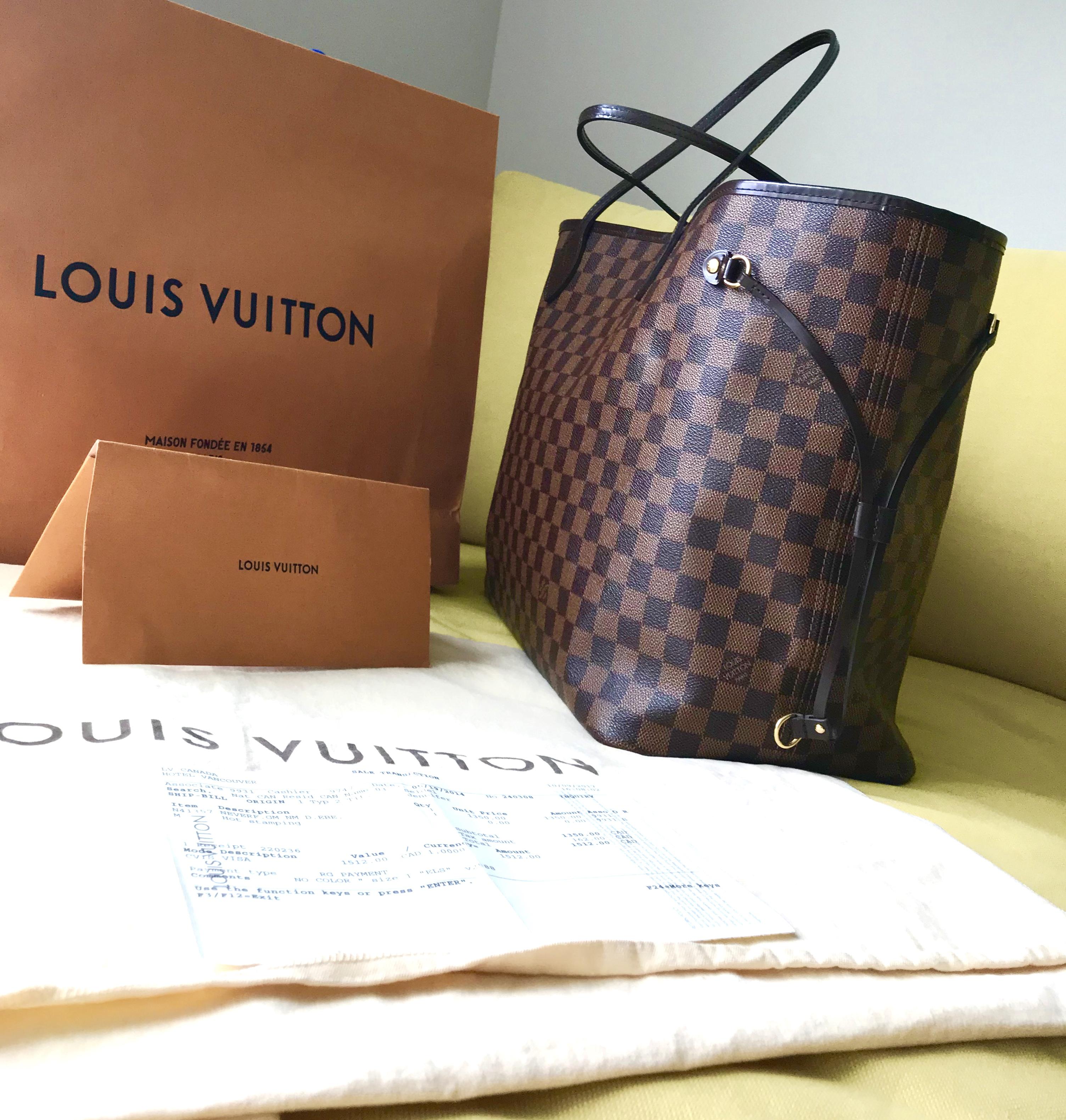 Home   Bags   Totes   Louis Vuitton Neverfull GM Damier Ebene Tote Handbag 7ffe9d67b8433