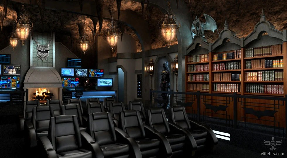 Fancy a Dark Knight themed custom home theater for 2
