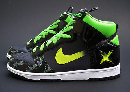 Xbox logo glows on the Custom Nike Xbox Alpha Dunks Sneakers