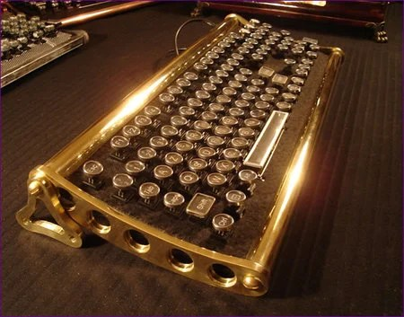 Steampunk von Slatt Original keyboard for a retro look