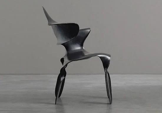 Make an art statement with the carbon fiber Dipinta Di Blue chair