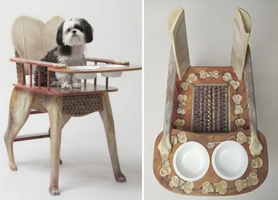 Dog High Chair elevates your pet to be your dining partner