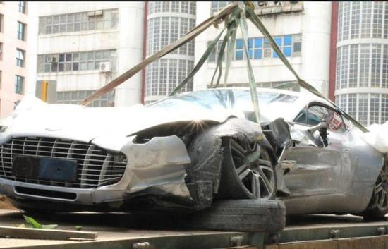 First Aston Martin One 77 Is Wrecked In The Worlds Most