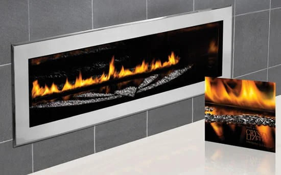 Swarovskistudded Napoleon LHD50 fireplace heats up with glamour