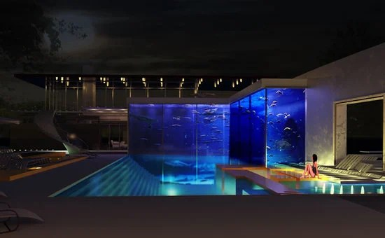 A 11 million bespoke aquatic complex will allow you to swim with the sharks