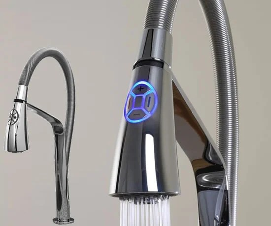 best kitchen pull down faucet outdoor ideas aquabrass unveils high-tech i-spray electronic ...