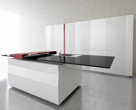 Hightech kitchen gets interactive with an inbuilt