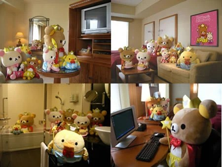 Rilakkuma themed room entices customers to the Royal Park