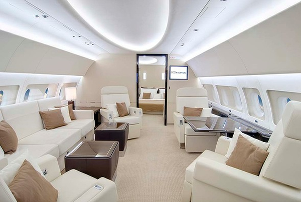 small double leather sofa bed sofas reviews peek inside the $87 million airbus acj319