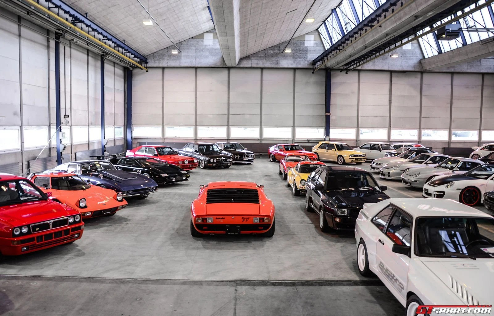 A peak inside a garage packed with 1100 sports luxury and