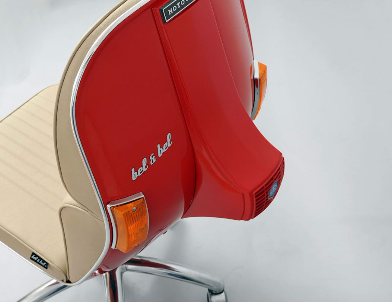 revolving chair spare parts in mumbai mesh seat and back office vespa scooters get a new life as smart chairs