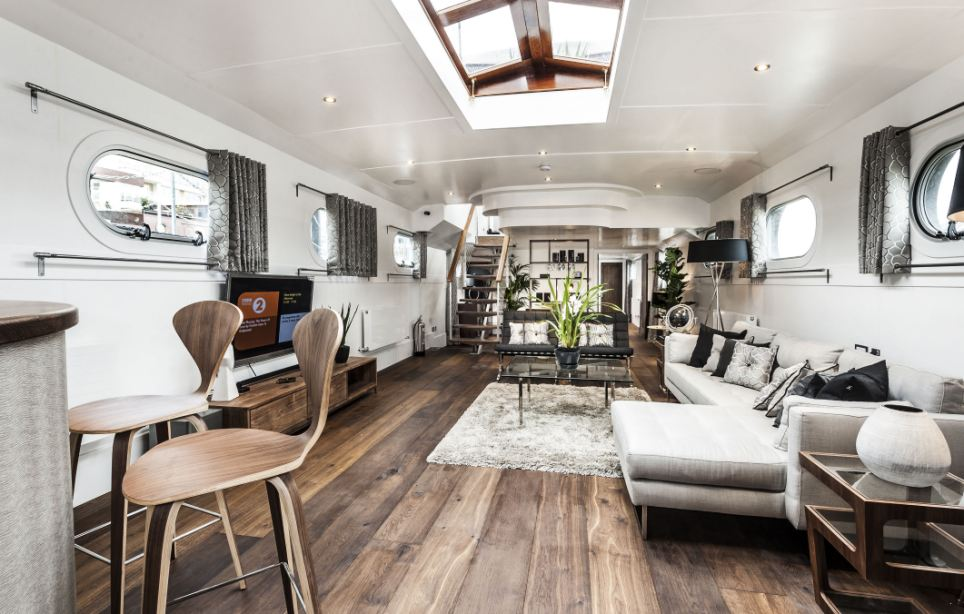 An old barge gets transformed into a 25 million floating