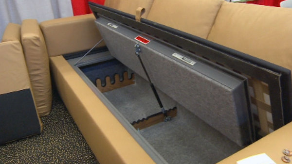 sofa gun safe miramar san go just in case a bulletproof couch with 3