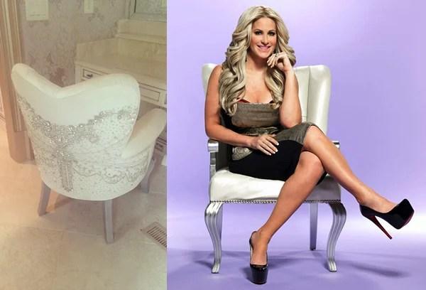 Kim Zolciaks Swarovskistudded makeup chair dazzles in