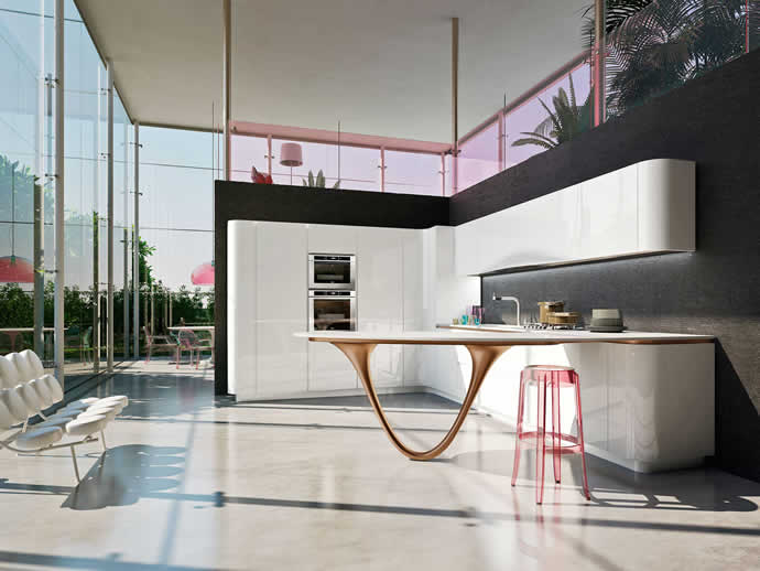 Pininfarina and Snaidero OLA 25 Ferrari Kitchen lets you share your love for a good kitchen and