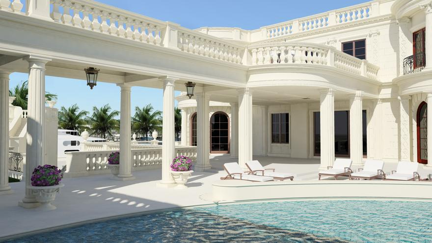 Inside Americas Most Expensive Home the 139 million Gold plated mansion in Florida