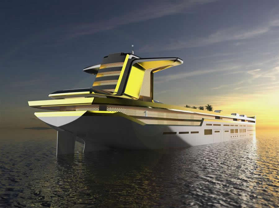 Meet Imra A 280m Oil Tanker Turned Into Luxury Yacht With Indoor Ski Slope And 13 BMWs To Move