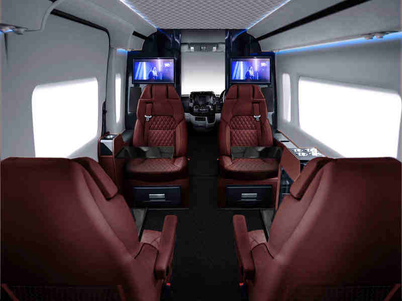 extra firm sofas small leather sofa this $300k customized mercedes van's interiors will put a ...