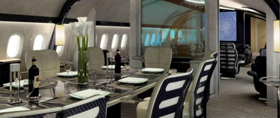Boeings Custom Designed 787 900 Dreamliner Is The Equivalent Of A Mega Yacht In Both Style And