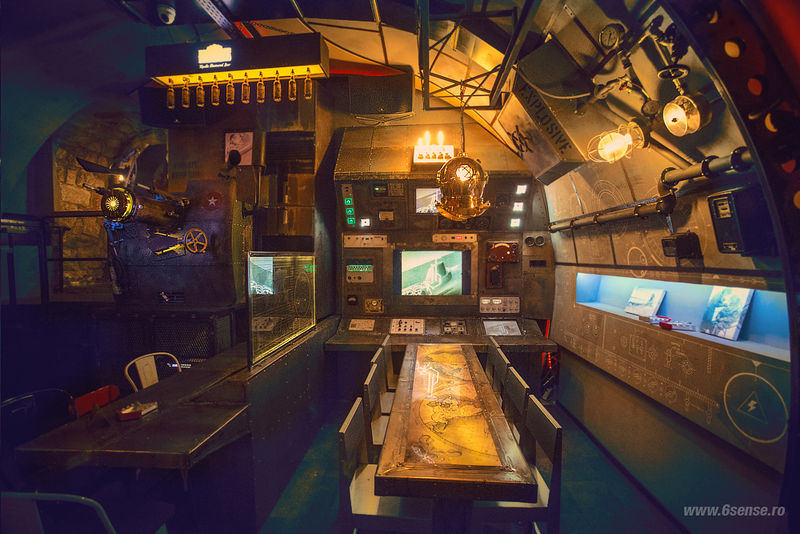 Have a pint in the first ever submarine Steampunk styled pub