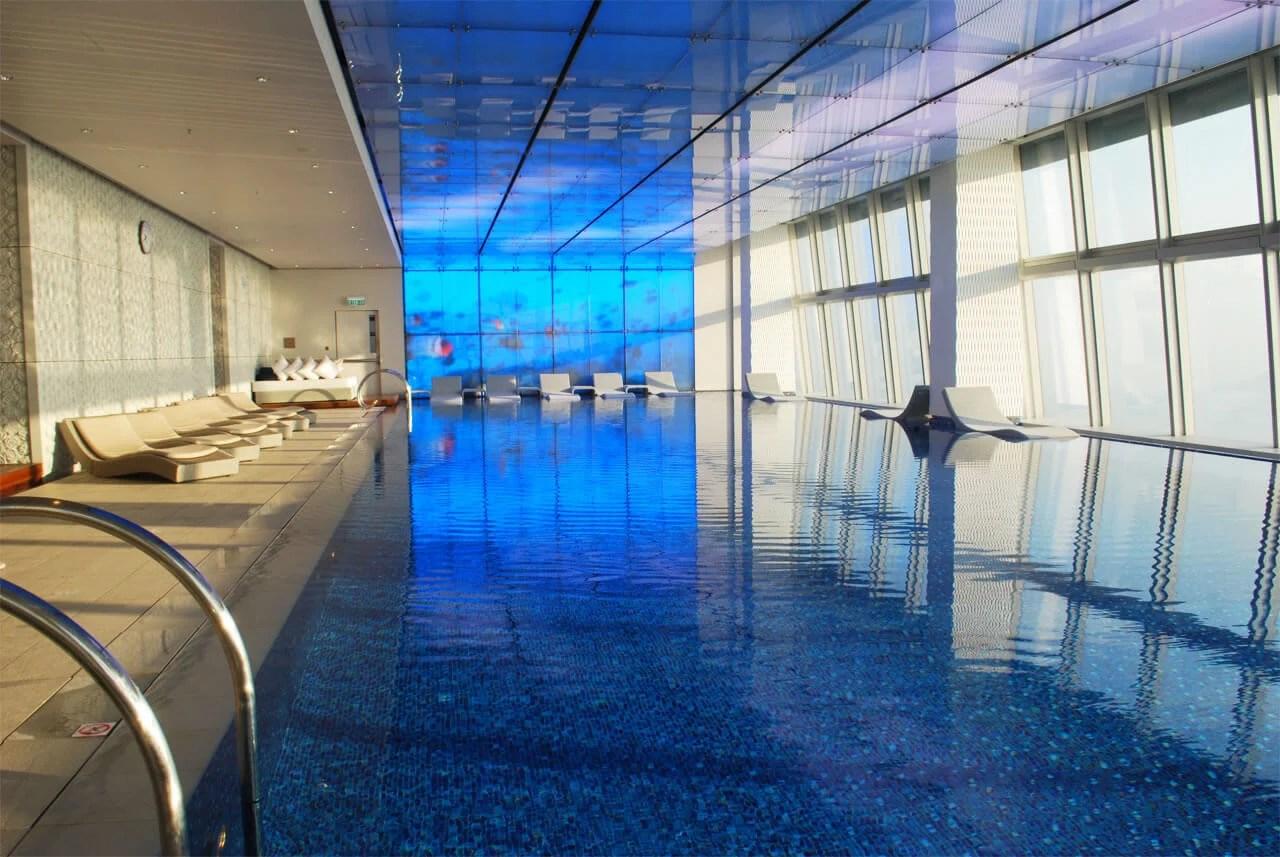 Review  RitzCarlton Hong Kong Swimming Pool Blue Oasis