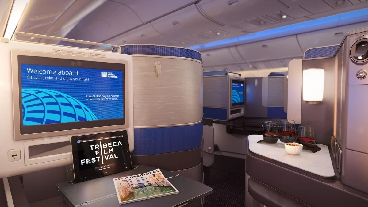 United Airlines new business class features sleeping pods