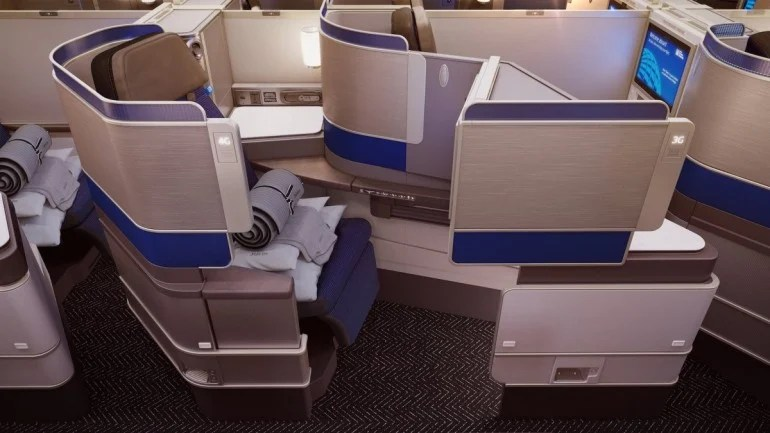 United Airlines new business class features sleeping pods instead of seats