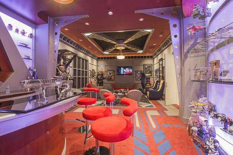 transport chairs office chair india inside the $1.5 million star trek themed home theater that took 4 years to build