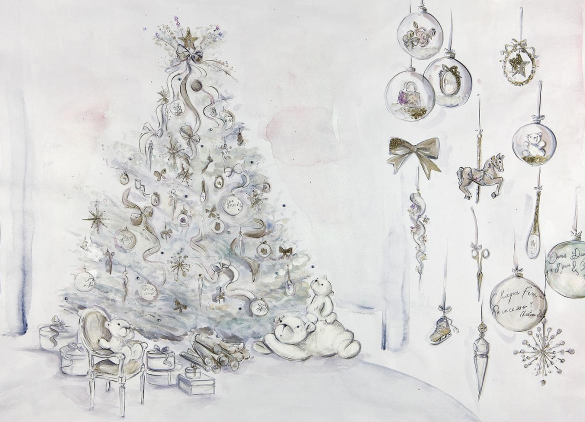 Dior creates their first Christmas tree for the Plaza