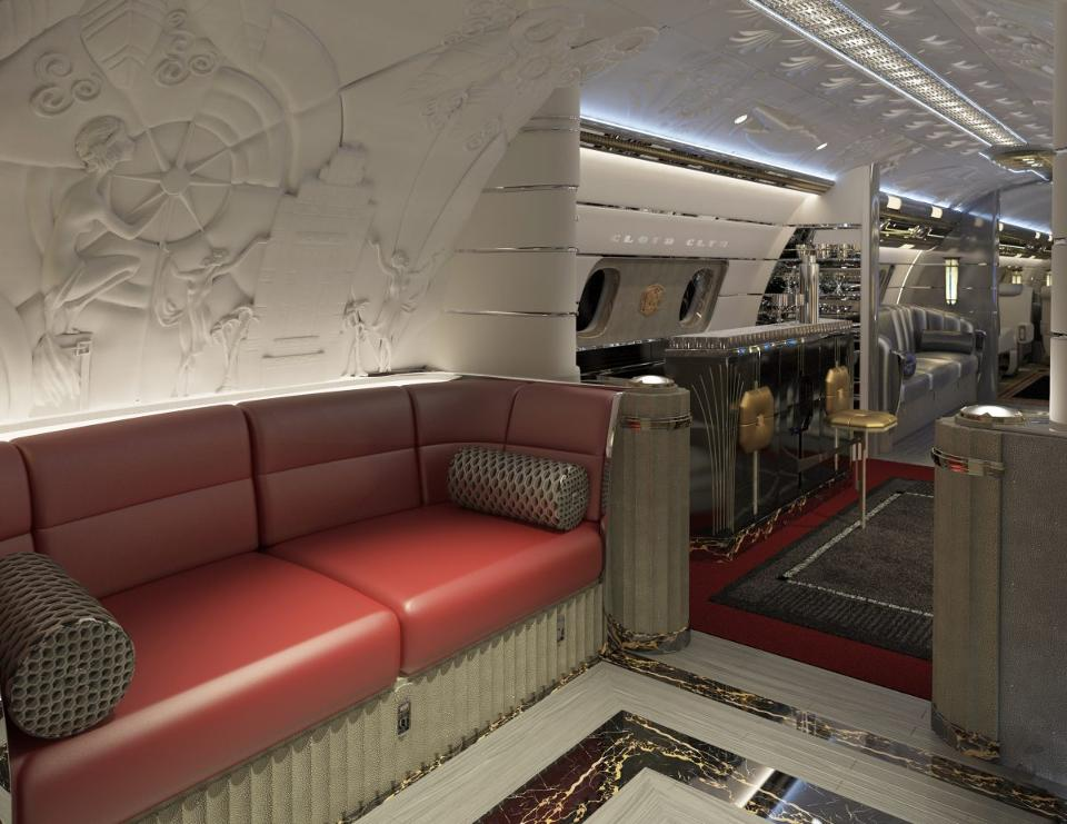 A $80 Million Bespoke Jet With Art