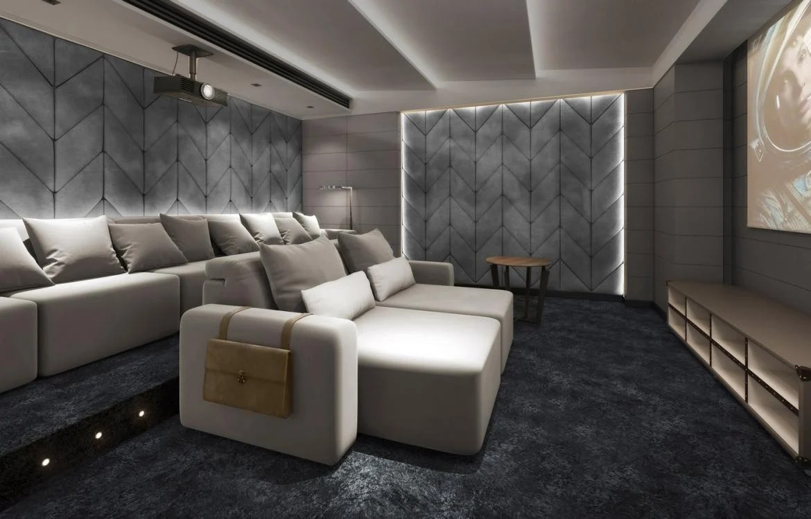 Check out the plush home cinema seating by Coleccion