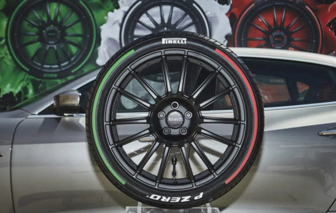 Pirelli launches limited edition tires that come with the Italian Flags colors on the sidewall