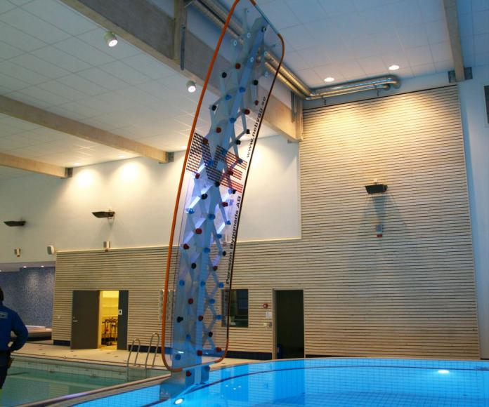 You Can Now Have A Rock Climbing Wall For Your Swimming Pool