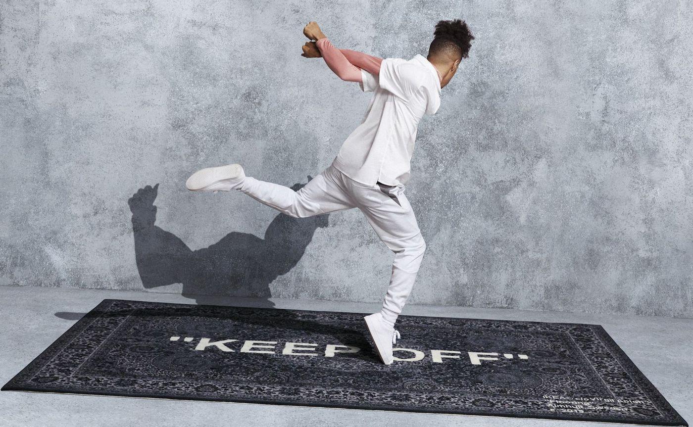 Louis Vuittons Virgil Abloh designed a 500 rug for IKEA